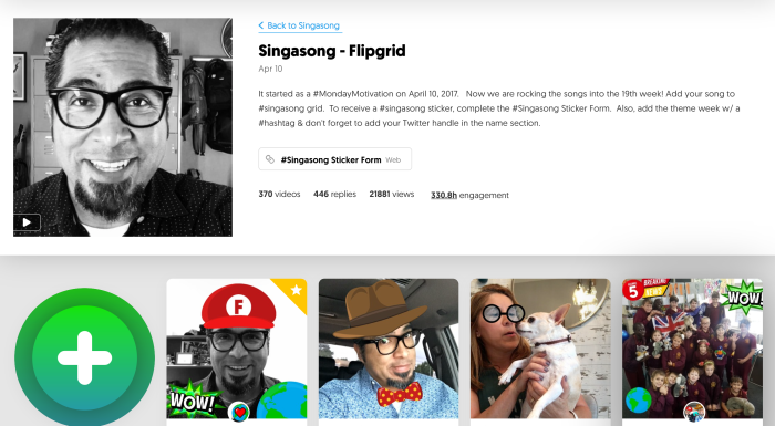 Flipgrid Sing a Song