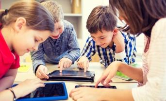 students on iPads