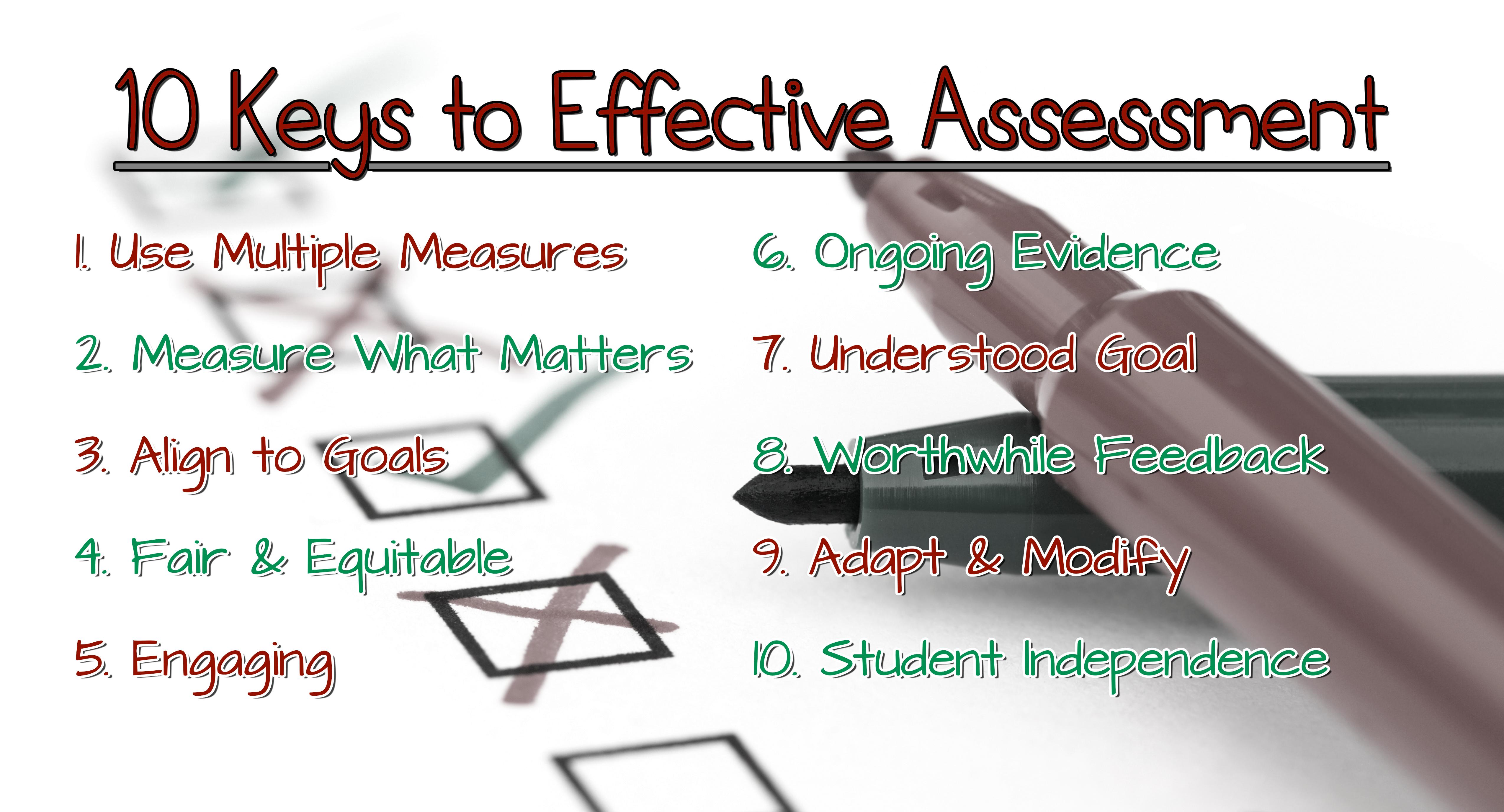 10 Keys to Effective Assessment