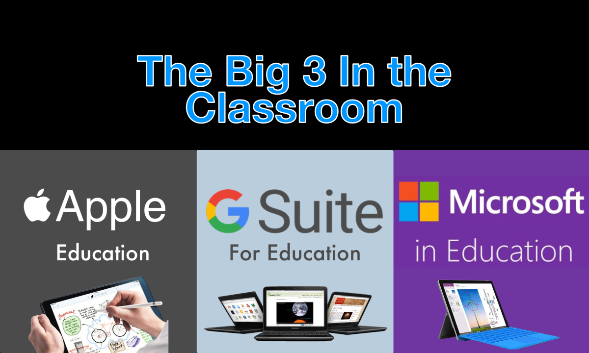 The Big 3 In the Classroom: Apple, Google, & Microsoft
