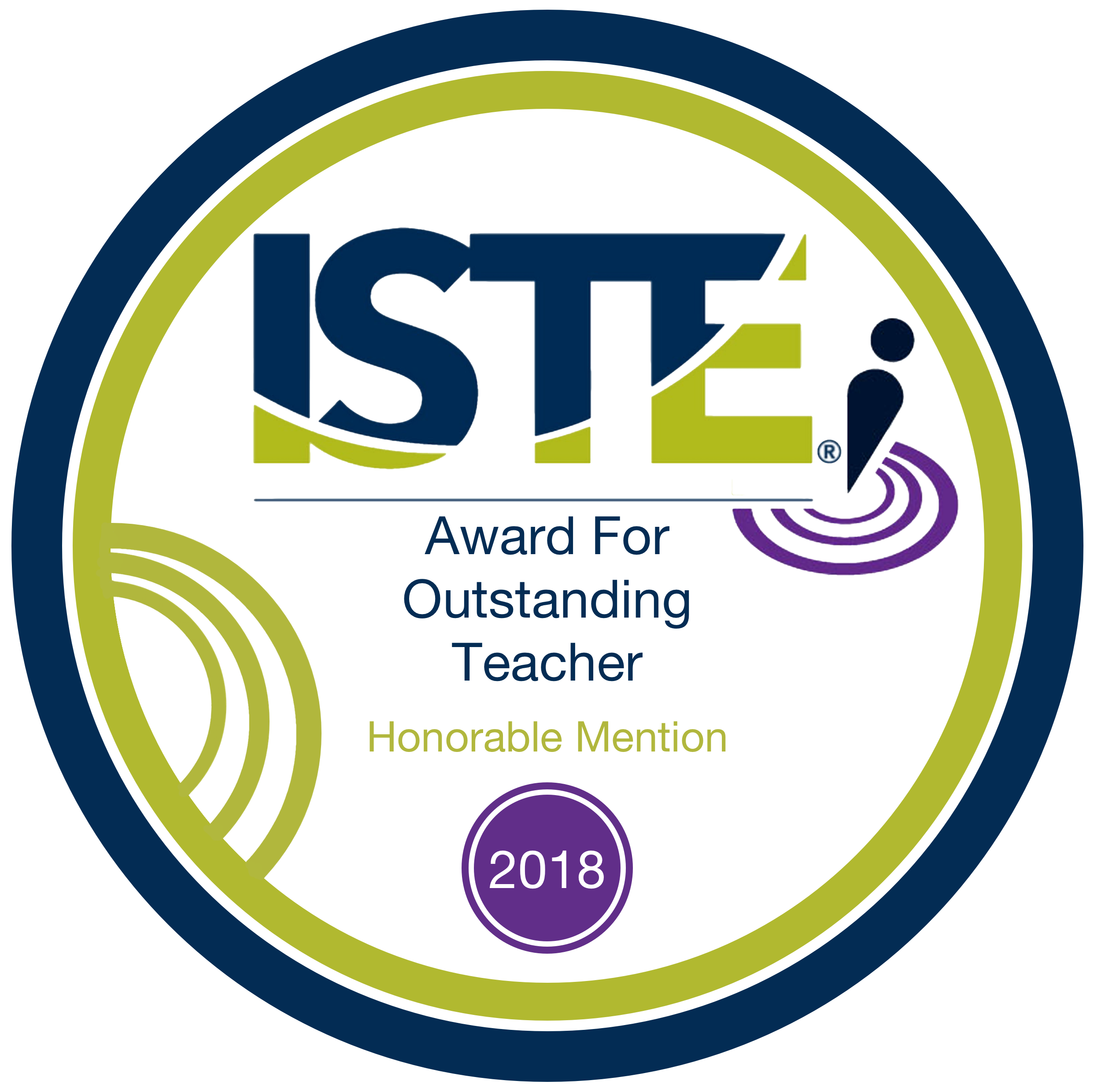 ISTE Award for Outstanding Teacher 2018
