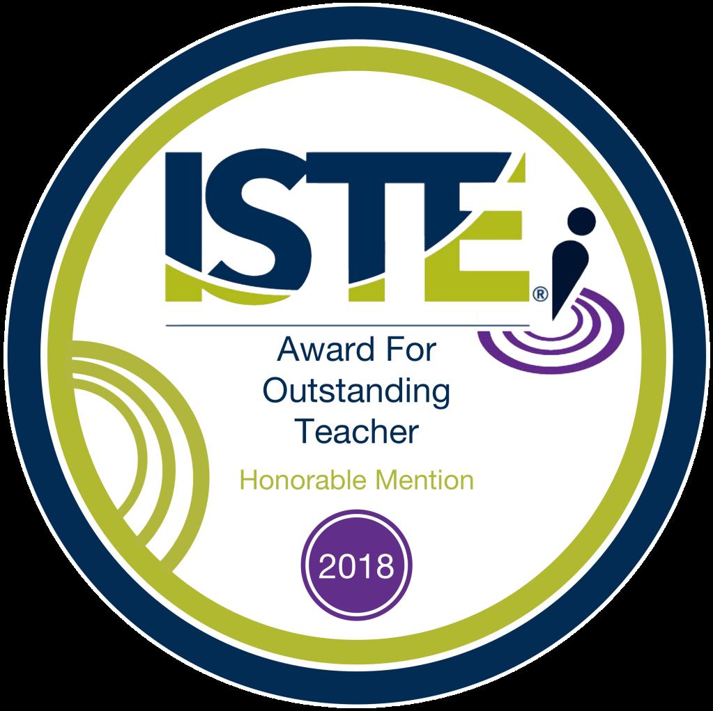 ISTE Award for Outstanding Teacher 2018