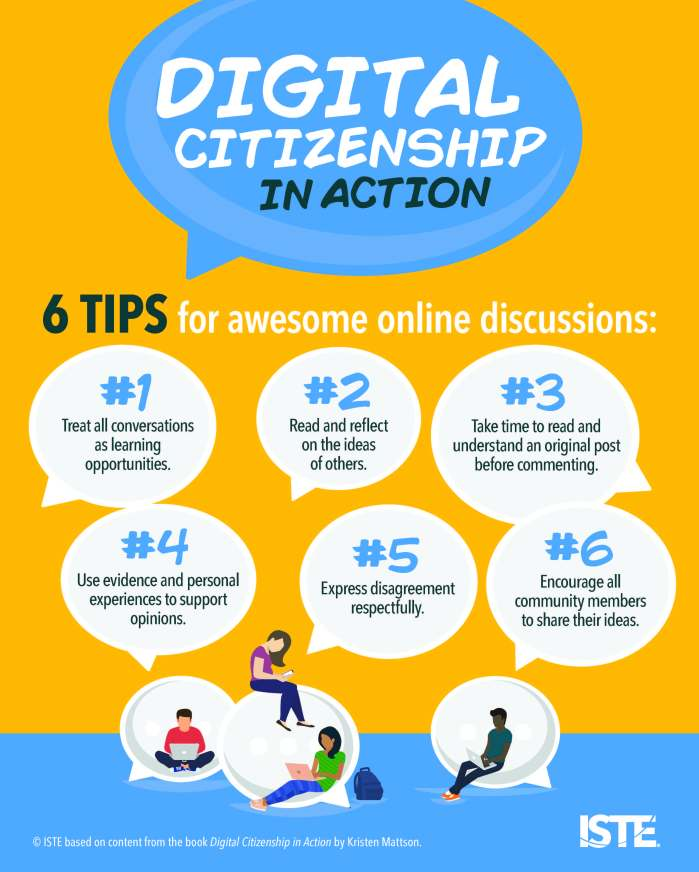 digital citizenship in action poster