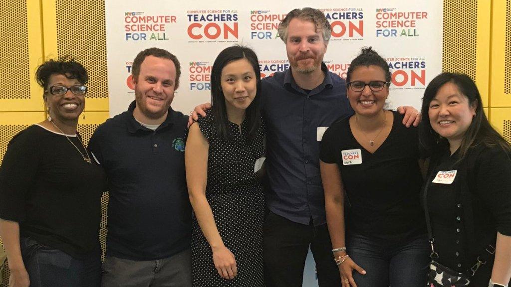 6 teachers at the CS Teacher Con