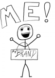 stick figure with me/my brand