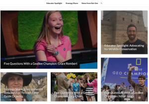National Geographic blog with GeoBee students and educators