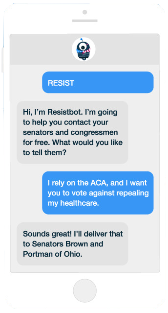 ResistBot text messages
