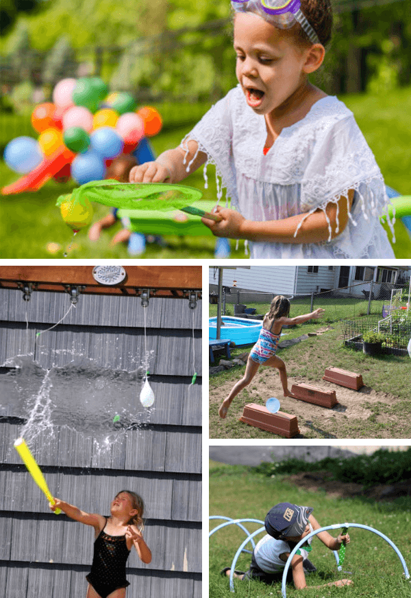 4 physical challenges including ballon splash and balance beam