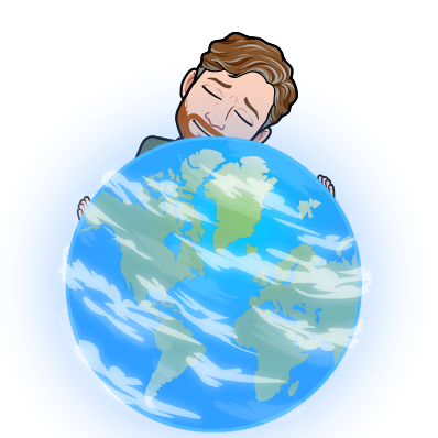Sean hugging the earth